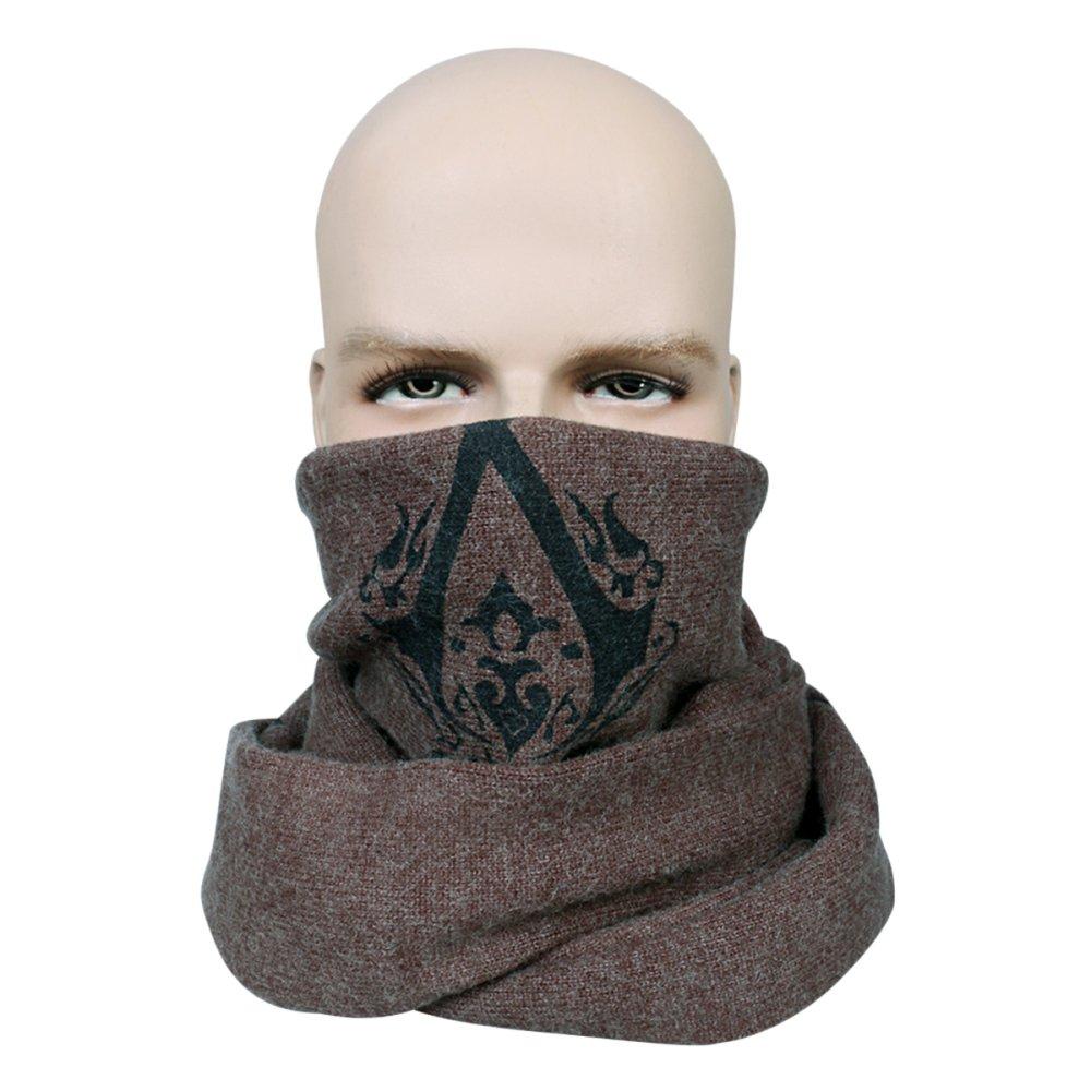 nihiug AssassinS Creed Bufanda Student Assassin Winter Scarf Hombres Y Mujeres Bufanda De Lana,Brown-OneSize