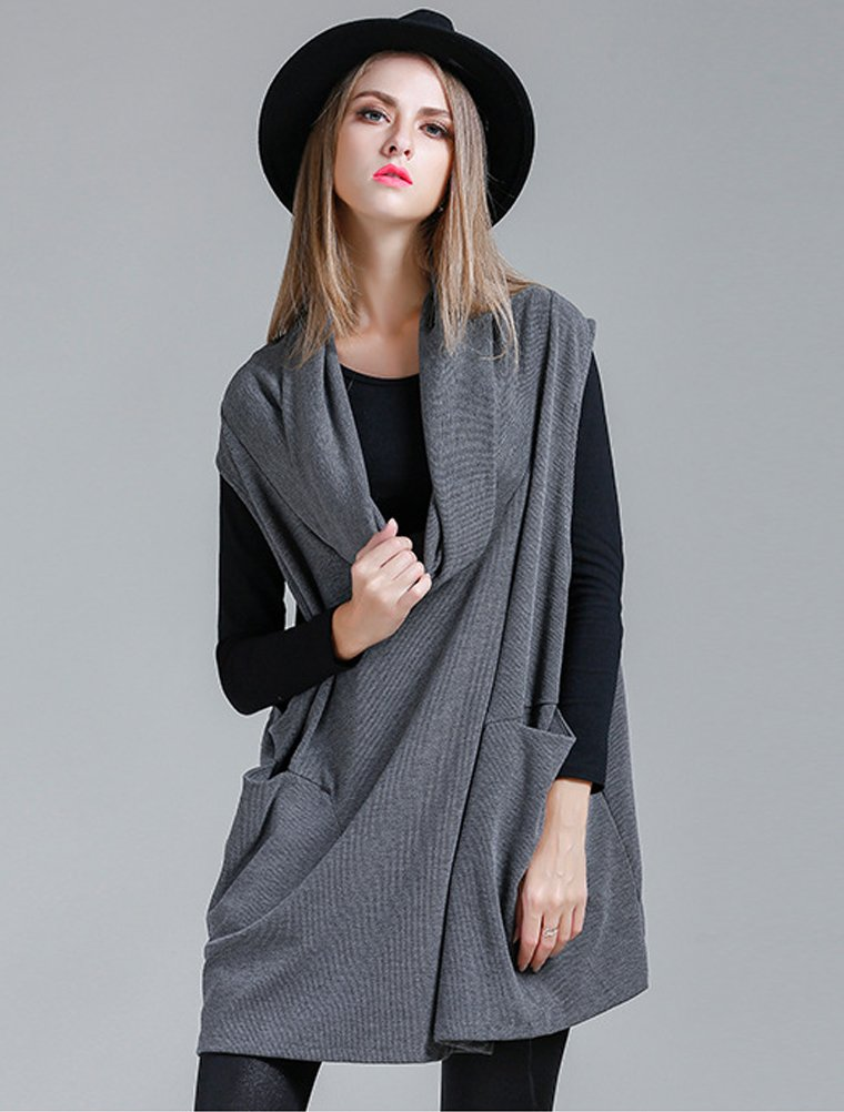 Mordenmiss Women's Oversized Sweater Spring Day Bat Shirt (Style 4 Gray) by Mordenmiss (Image #2)