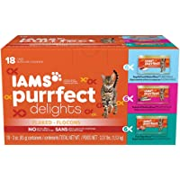 18-Pack Iams Purrfect Delights Flaked Adult Wet Cat Food (3 oz)
