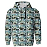 Billet-doux Elegant Ballet Tops Shirt Coat Kangaroo Pocket Men's Novelty Hoodie Fit