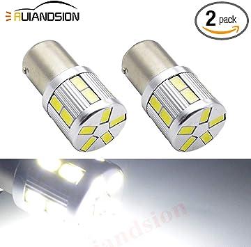 2pcs 2W 1156 BA15S LED Turn Signal Light Brake Reverse Backup Lamp Bulb White
