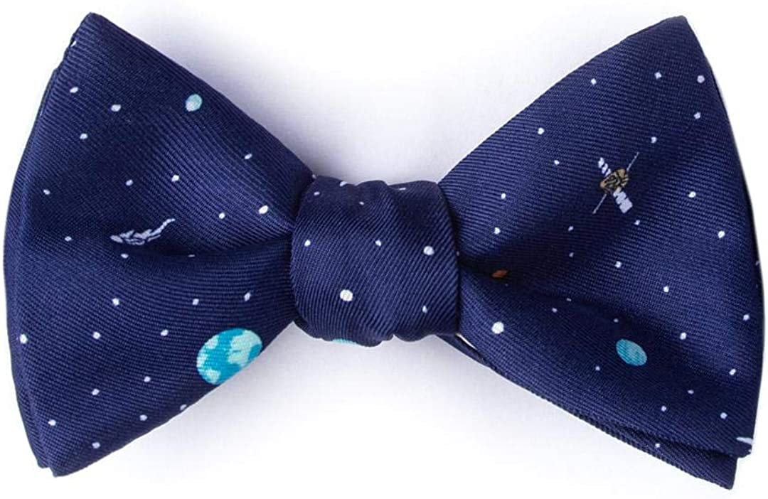 Men's Solar System Astronomy Solar Outer Space Novelty Self Tie Bow Tie