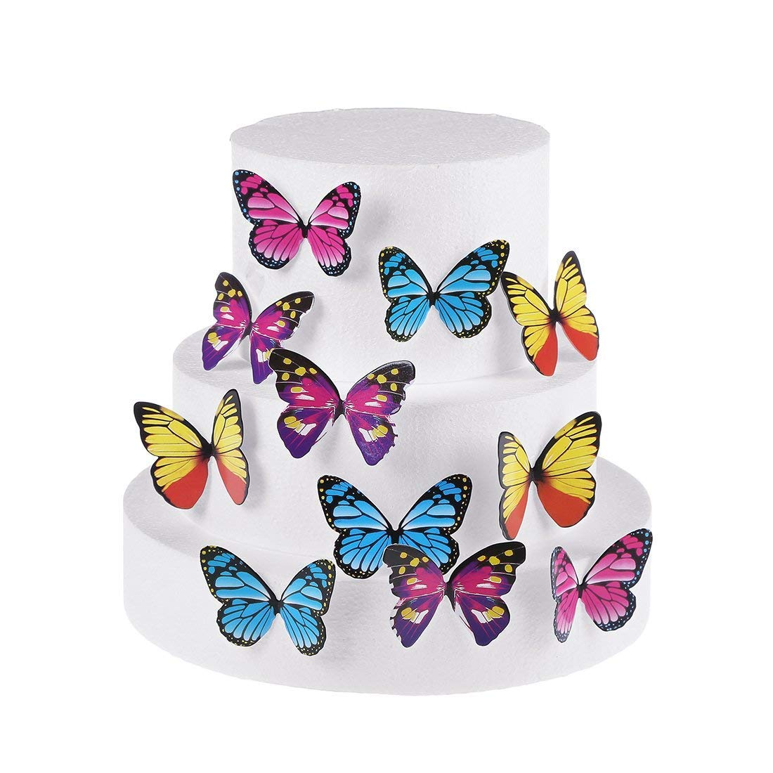Set of 30 Edible Cupcake Toppers Wedding Cake Birthday Party Food Decoration Mixed Size & Colour (Butterfly) Kootips-1-4411