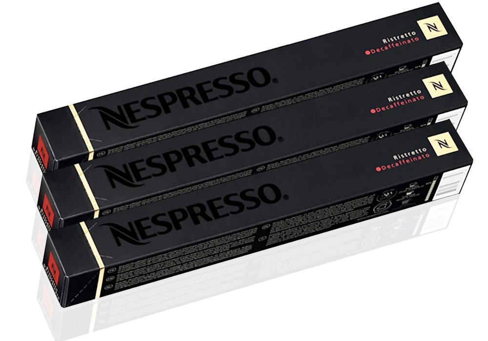 """Nespresso OriginalLine: Ristretto Decaffeinato 1 Package (30 Capsules) - """"NOT Compatible with VERTUOLINE machines"""""""