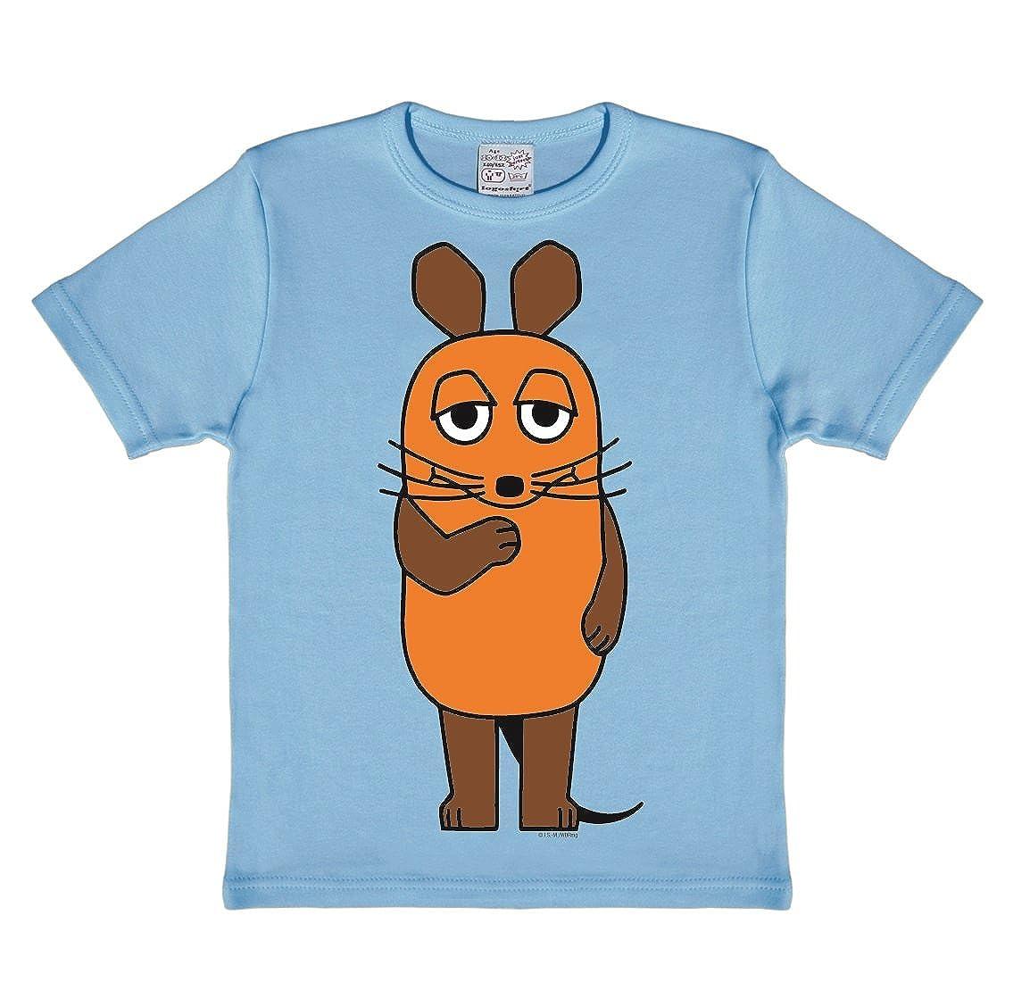 Logoshirt Die Sendung mit der Maus - Die Maus T-Shirt Kinder - hellblau - Lizenziertes Originaldesign 080-0255/025