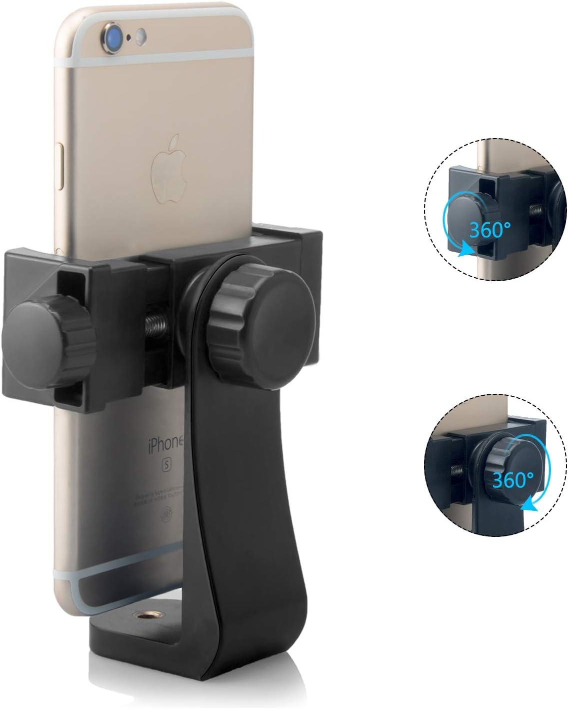 Utilizado en Tr/ípode//Selfie Palo para Fotograf/ía iPhone//Samsung//Nexus Tr/ípode Monopod Selfie Stick Lammcou Smartphone Tr/ípode Adaptador Soporte para Tel/éfono M/óvil Tr/ípode con Abrazadera Ajustable