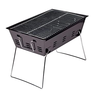 WAVENI Parrilla Plegable portátil para Acampar Engrosamiento ...