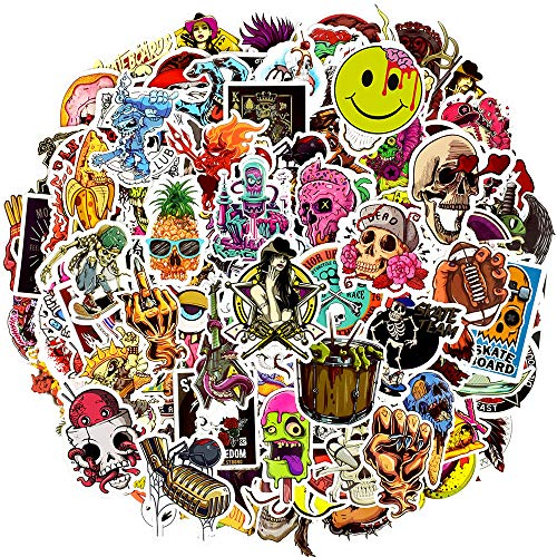 Waterproof Vinyl Stickers Bomb Laptops Skateboard Bumper Car Decals (150Pcs Punk Style)
