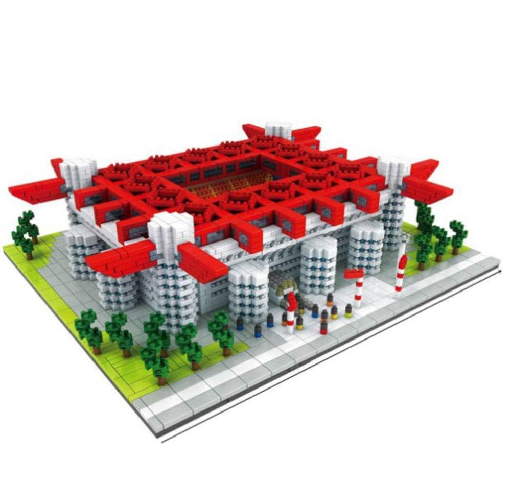 EP-model Modelo 3D para Estadio Deportivo, Modelo de construcción de plástico de Recuerdo de Bricolaje, Modelo de Estadio AC San Siro (3800), Juego de Regalo, 11