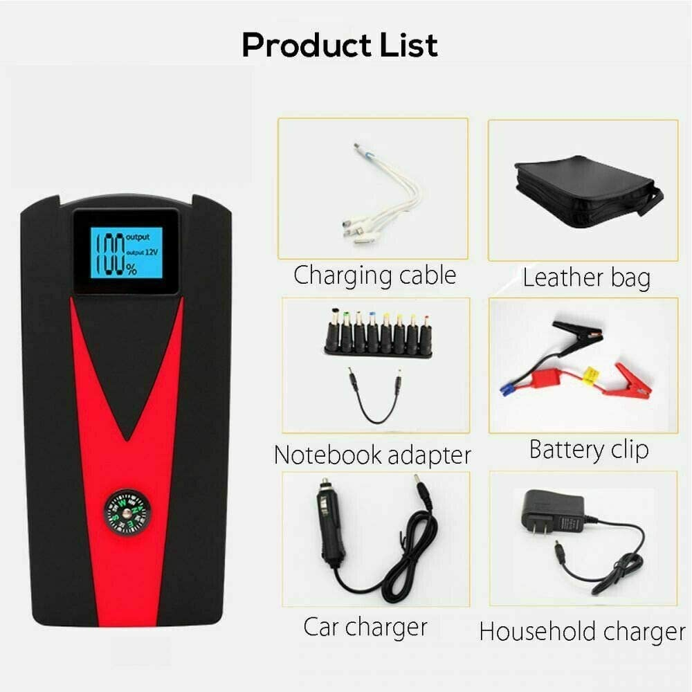 Up to 4.5L Gas or 3.5 Diesel Auto Battery Charger for Automotive 12v MACHSWON Car Jump Starter Portable 600-800A Peak 12000mAh Car Battery Booster