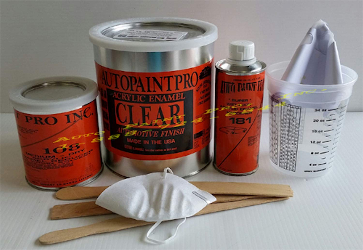 Acrylic Enamel Clear Coat KIT AUTO Paint Restoration CAR Paint Supplies