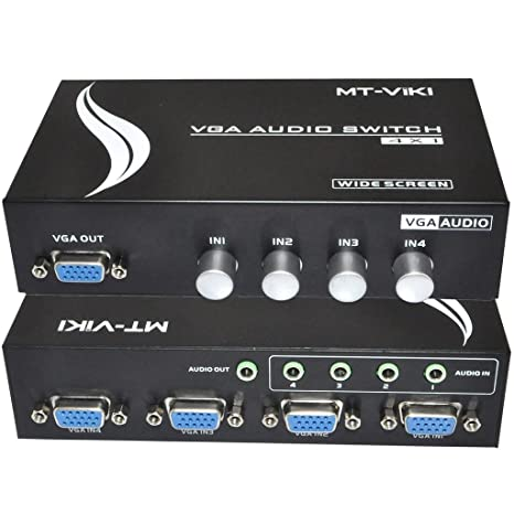 Incredible Amazon Com Ikkegol 4 Port Vga Switch Audio Video Switcher Box Wiring Cloud Philuggs Outletorg