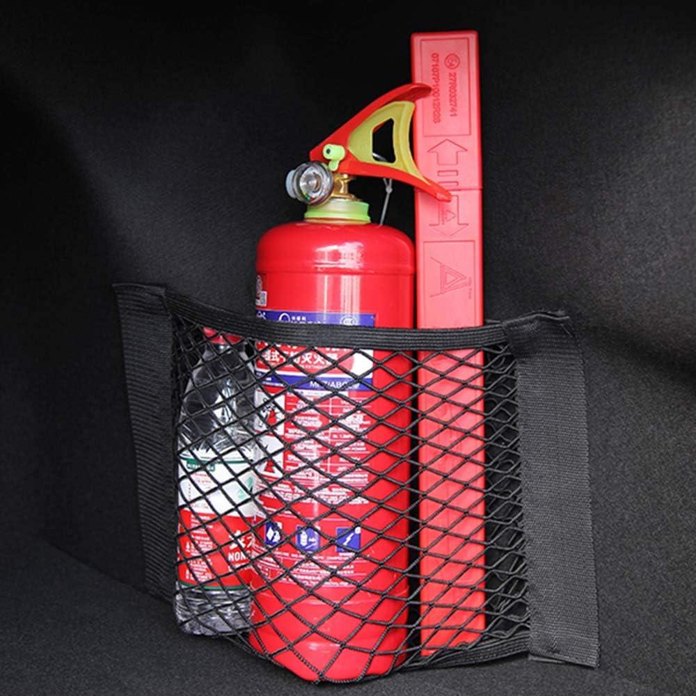Elastic Trunk Cargo Organizer Nylon Mesh Rear Car Net for Bottles,Groceries 2 pcs Cargo Net Car Storage Net Car Trunk Storage Organizer