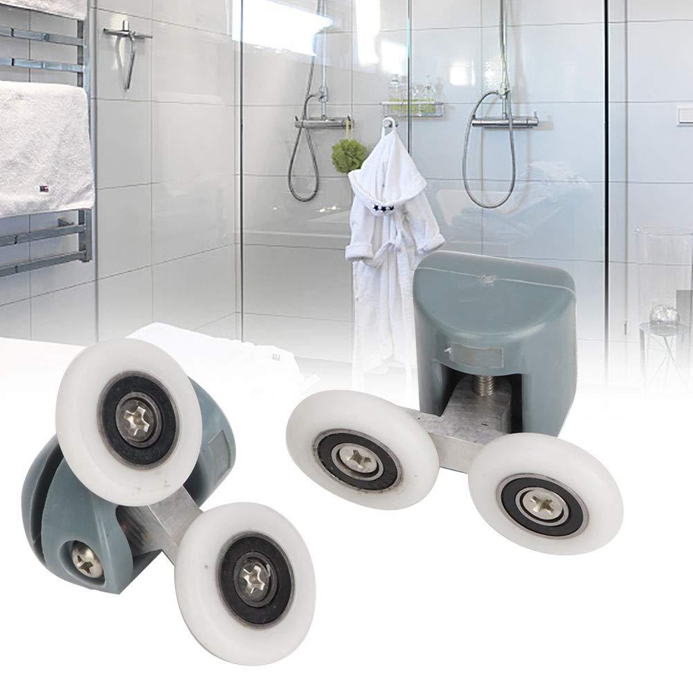 porta rullo di ricambio doccia scorrevole porta scorrevole in vetro corridori superiori rulli pulegge ruote per il bagno Pan vetro scorrevole porta pulegge singola ruota Rulli porta doccia