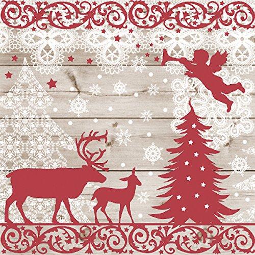 Christmas, motivo: Natale, confezione da 20 tovaglioli di carta, motivo , 3 Veli, 33 x 33 cm Christmas motivo  PAW