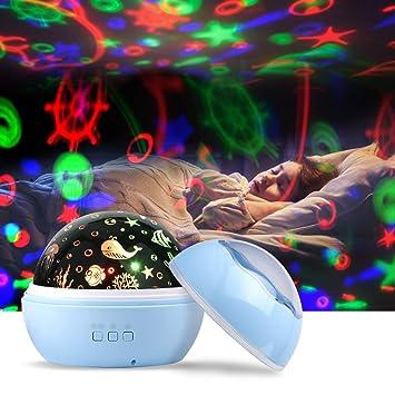 Nachtlicht Projektor Baby Kinder LED Fernbedienung Sternenhimmel Kinderzimmer.