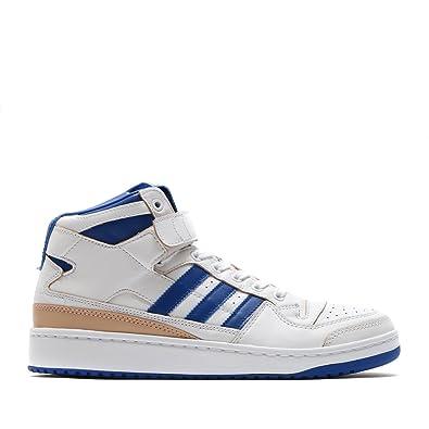 adidas Mens FORUM MID (WRAP) White/Collegiate Royal/White - BY4412
