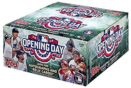 2015 Topps MLB OPENING DAY Baseball Box of Hobby Trading Cards - 36 packs of 7 cards each! (Preview Card Trading)