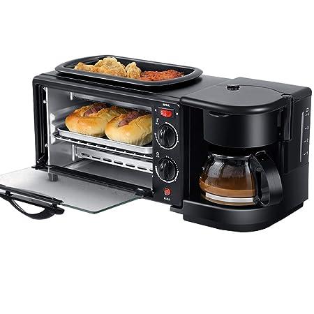 ERGUI Máquina de Desayuno 3 en 1 450 W Cafetera + 600 W Teppanyaki ...