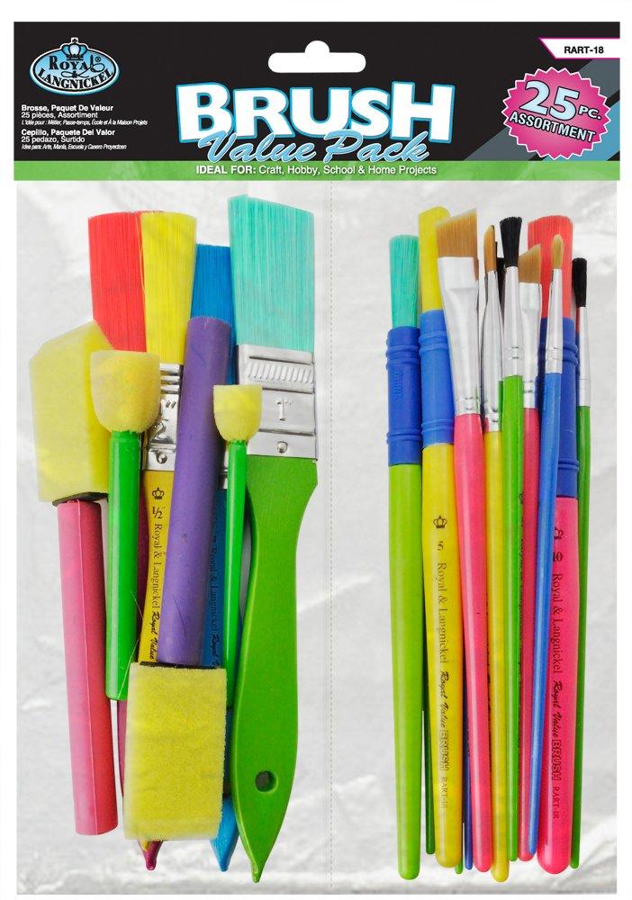 Royal and Langnickel RART-18 Craft Brush Value Pack (Pack of 25) Royal Brush Mfg