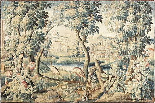 Tapestry Verdure Rug - Antique Verdure Tapestry (Fragment) BB6642 - Doris Leslie Blau