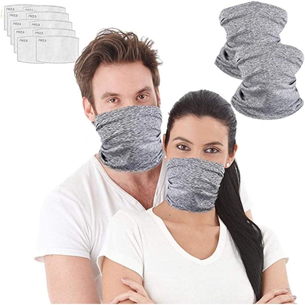Seamless Rave Bandana, Unisex Seamless Face Mask Tube Neck Gaiter Balaclava Headwear for Women and Men