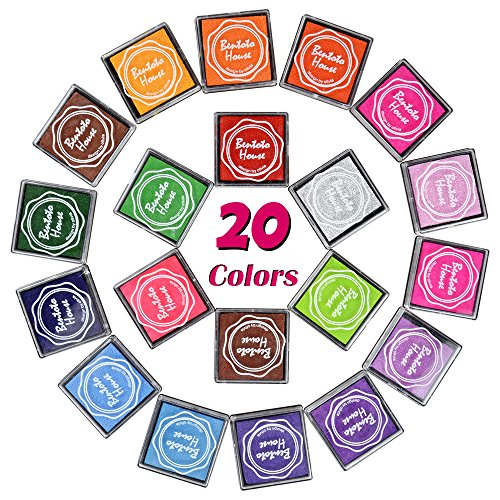 Colors Rainbow Finger Rubber Stamps