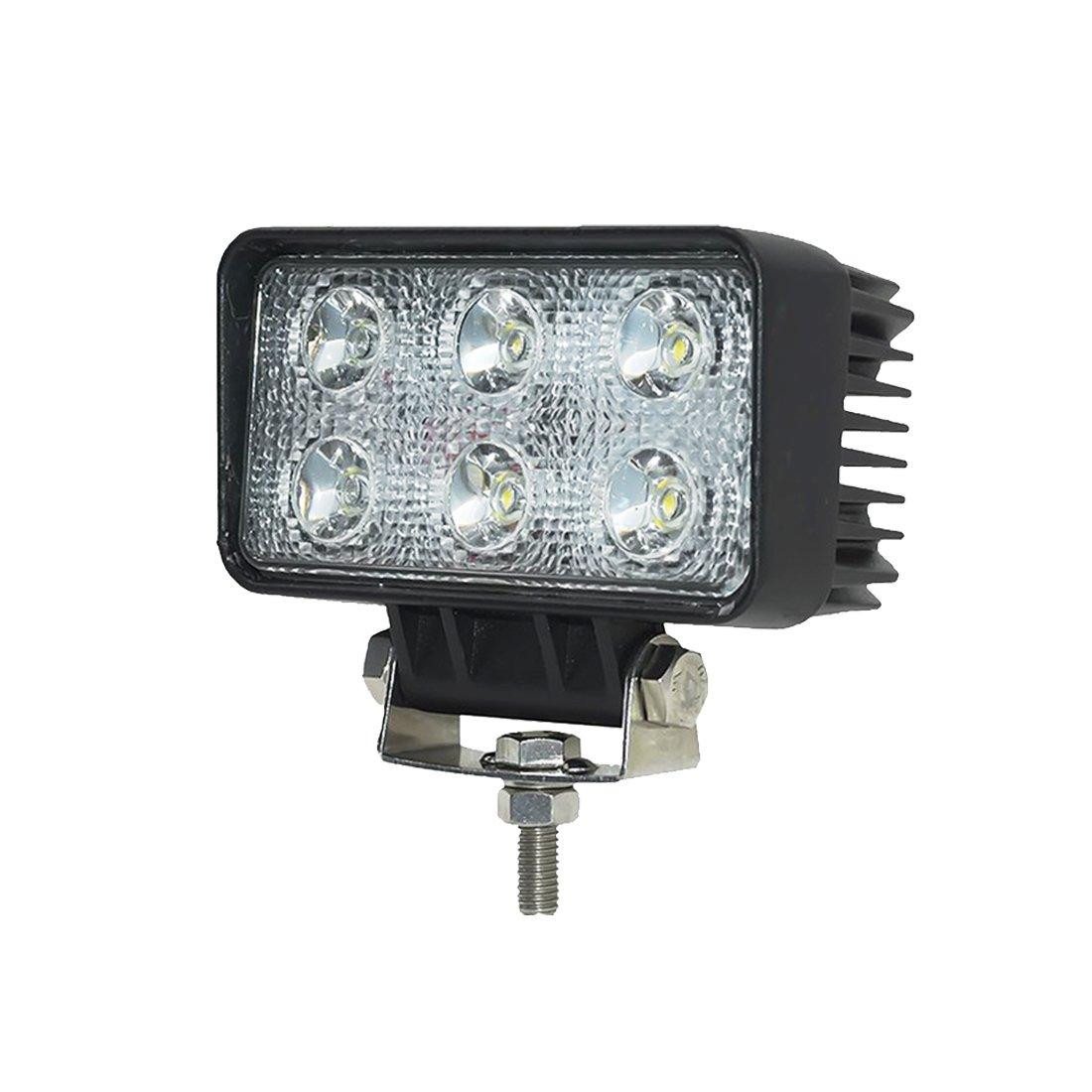 LED Arbeitsscheinwerfer, JieHe Led Arbeitslicht Bar 1800LM Led Scheinwerfer 12v 18W IP67 fü r Offroad SUV UTV ATV Traktor Bagger