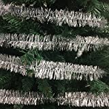 100 FT Commercial Length Christmas Garland Classic Christmas Decorations, Silver