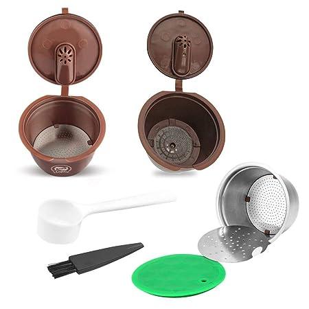 GLOBEAGLE Filtro de cápsulas de café reutilizable compatible con ...