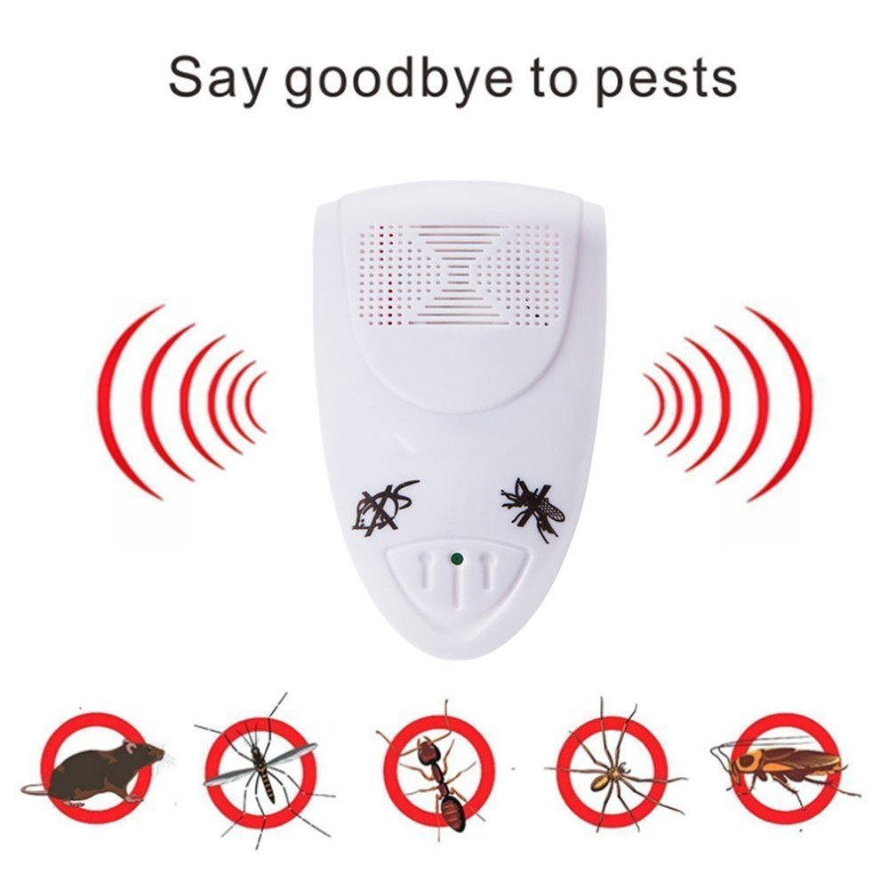 Aquiver Ultrasonic Pest Repeller Electronic Pest Control Plug In Insect Repellent Indoor for Rodent, Mice, Cockroach, Insects, Spiders, Flies, Ants, Fleas, Mosquitos, Vermin, Rat and Mouse Repeller (1Pcs, Black)