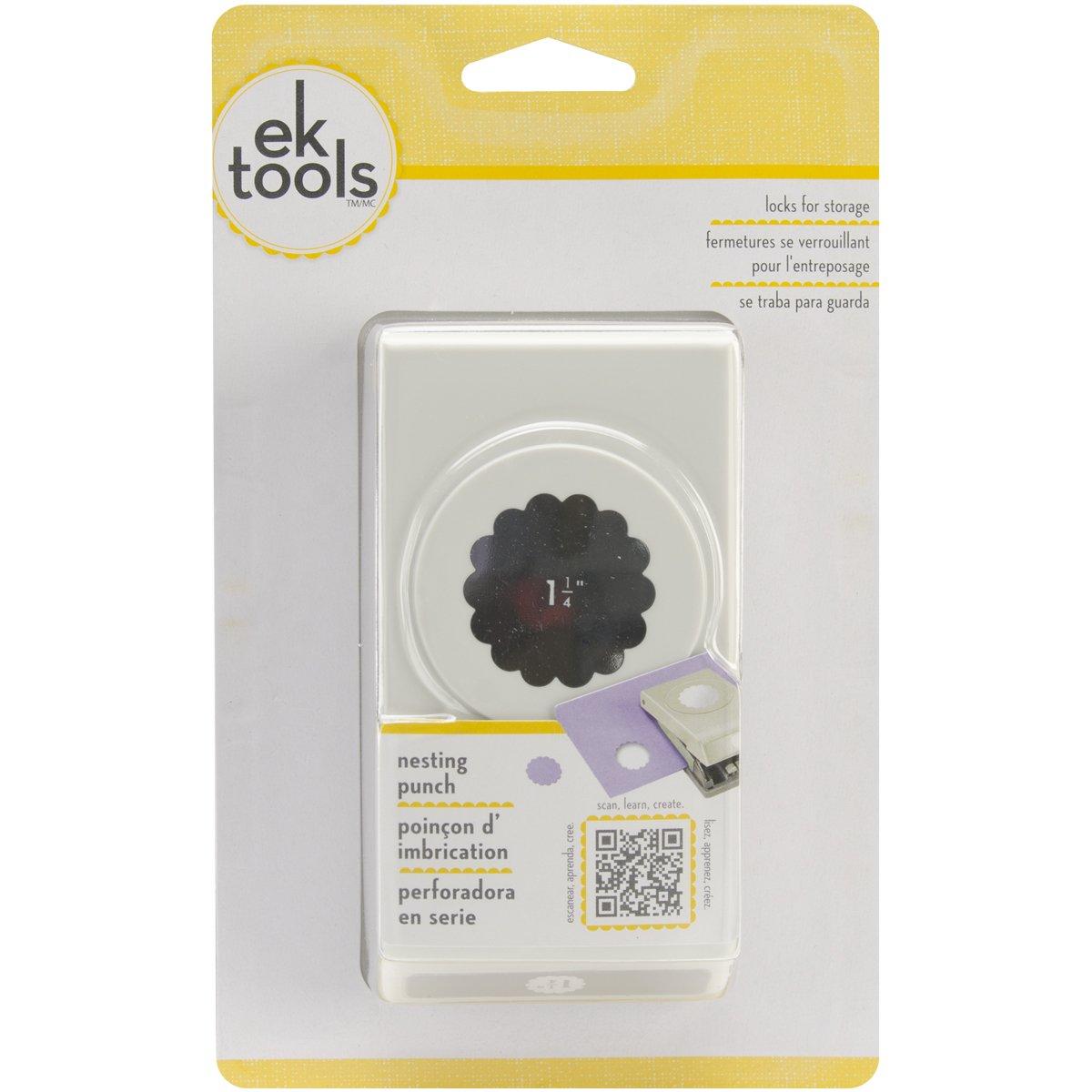 EK Tools Perforadora de círculo, borde festoneado de 1,25...