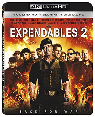 4K Blu-ray : The Expendables 2 (With Blu-Ray, 4K Mastering, 2 Pack, Dolby, AC-3)