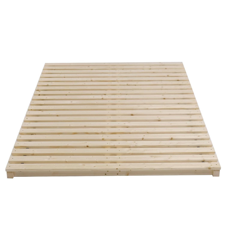 TUGA u Schwergewichte Palettenbett Holztech Stabiler unbehandelter Naturholz Lattenrost bis 300Kg Fl/ächenlast f/ür Bettgr/ö/ße 200x220cm Keine Kullen kein Durchh/ängen f/ür Leicht