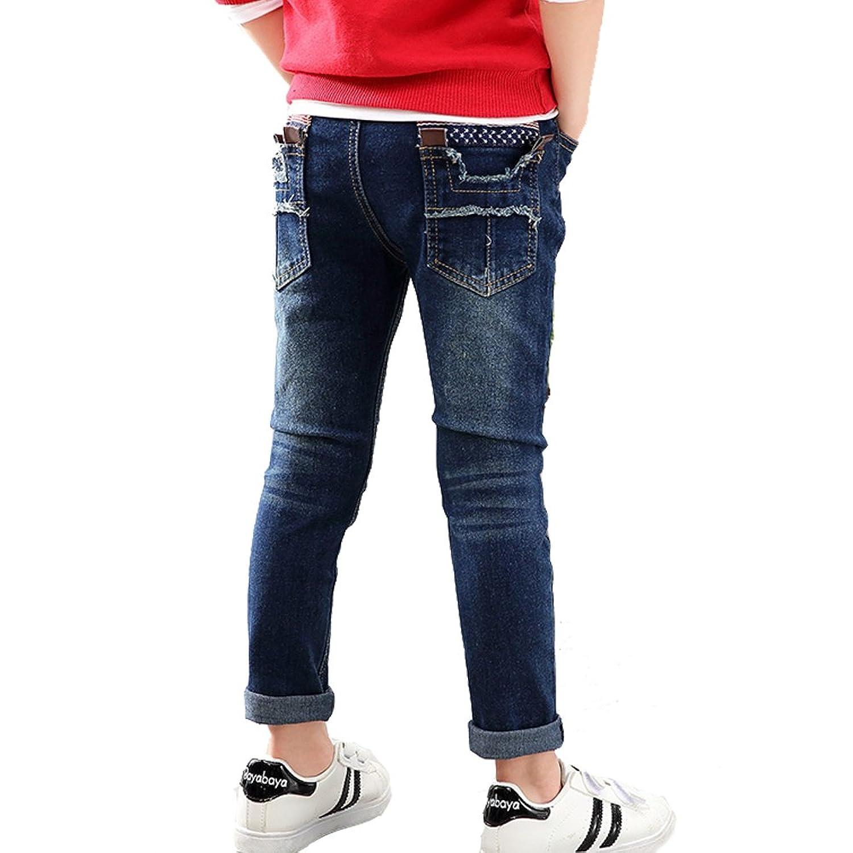 NABER Kids Boys' Fashion Elastic Waistband Soft Denim Pants Jeans Age 4-11  yrs: Amazon.co.uk: Clothing