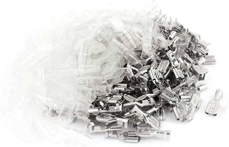 100 Set Verriegelung 6.3mm Bolzenbreite weiblich Kabelsteckschuhe Stecker Hülse