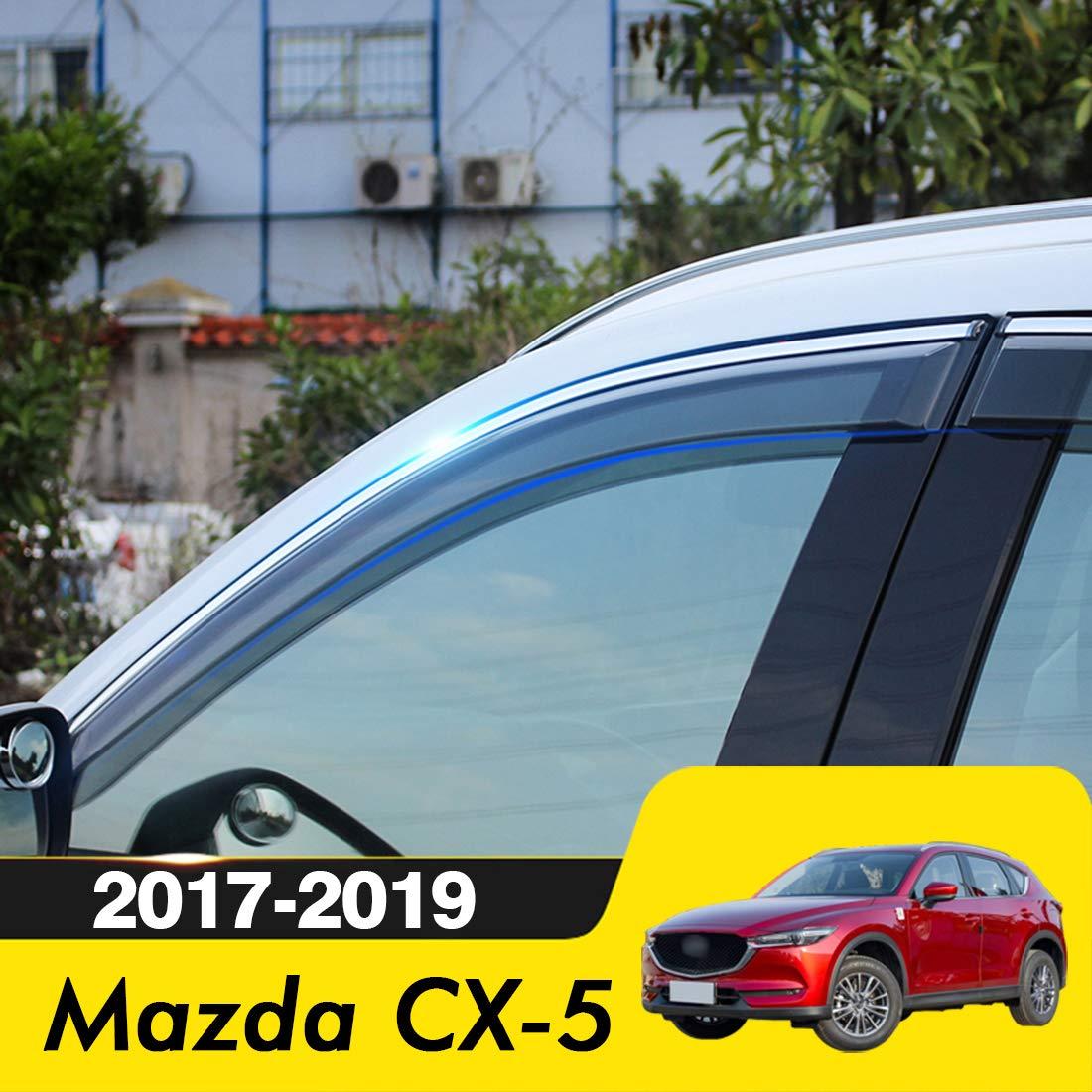 biosp 2017 Mazda CX-5 Visor Rain Sun Deflectors Car Window Ventvisor Shade Wind Deflector