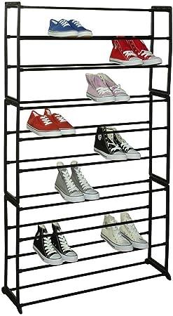 Basics 50-Pair Shoe Rack Organzier