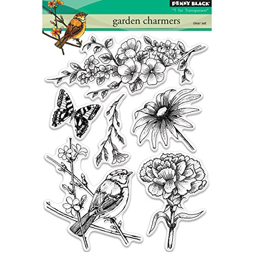 Penny Black Garden Charmers Clear Stamps, 5