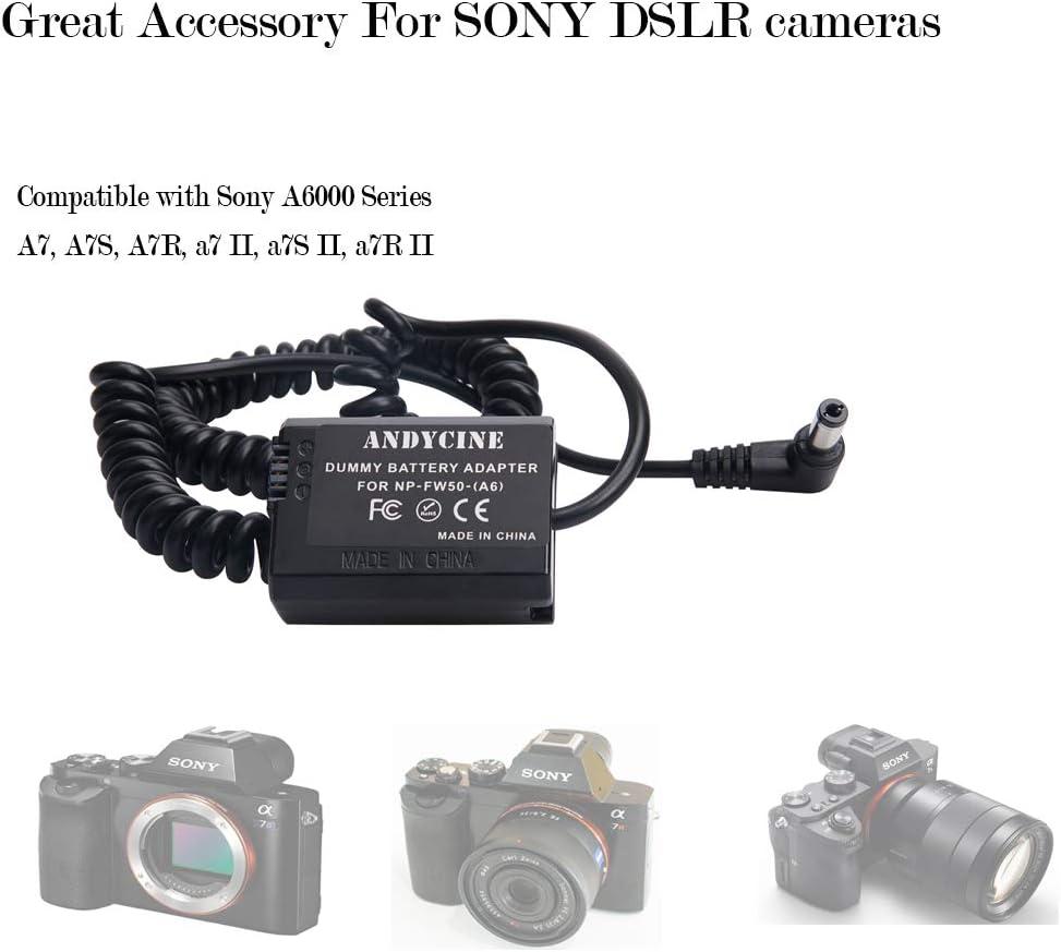 Andycine EN-EL15 Dummy Battery Adapter Coiled Cable for Nikon D500 D610 D7000 D7100 D750 D800 D810 D7200
