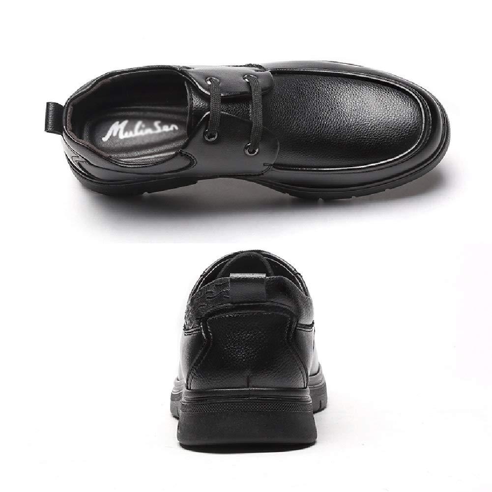 LXLA - - - Mens schnüren Sich Oben Formale Lederschuhe der Männer runde Zehe Kleid Schuhe für Männer (Farbe   SCHWARZ, größe   7.5 US 6.5 UK) f24640