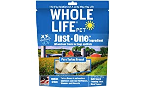 Whole Life Pet Single Ingredient Usa Freeze Dried Turkey Breast Treats Value Pack For Dogs And Cats, 10-Ounce