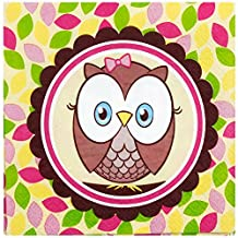 1st Birthday Owl Party Look Whoo's 1 Pink Lunch Napkins (16)
