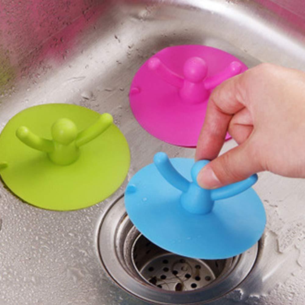 lavander/ía color azul cocina para el hogar Tap/ón de drenaje ExeQianming de silicona para fregadero