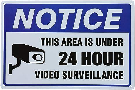 Opinión sobre dojune-señal de vigilancia de vídeo, señal de advertencia de cámara de seguridad