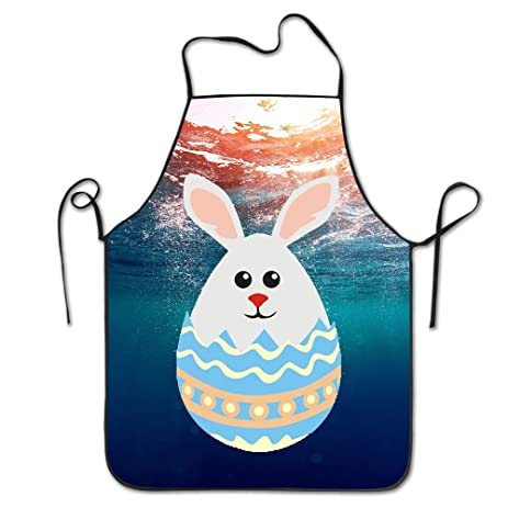 Amazon bunny in easter egg chef aprons home bib apron for women bunny in easter egg chef aprons home bib apron for women men girl kids gifts kitchen negle Gallery