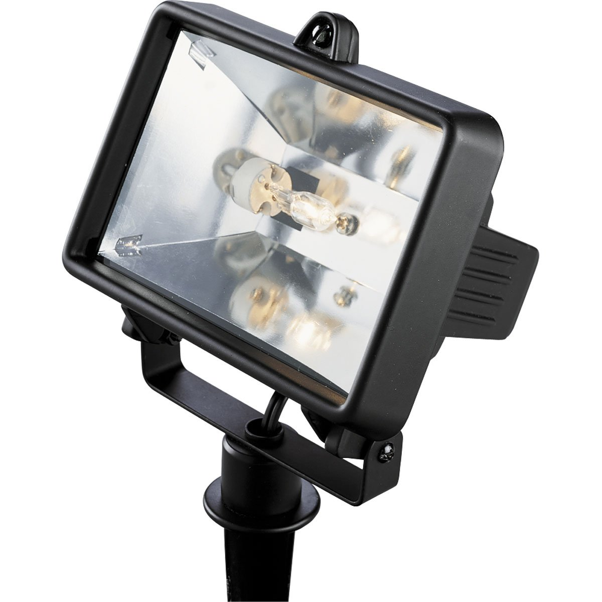 Progress Lighting P5239-31WB 12 Volt Bi-Pin Die Cast Aluminum Flood Light That Swivels Up or Down with Powder Coat and Adjustable Hinged Door For Easy Relamping, Black