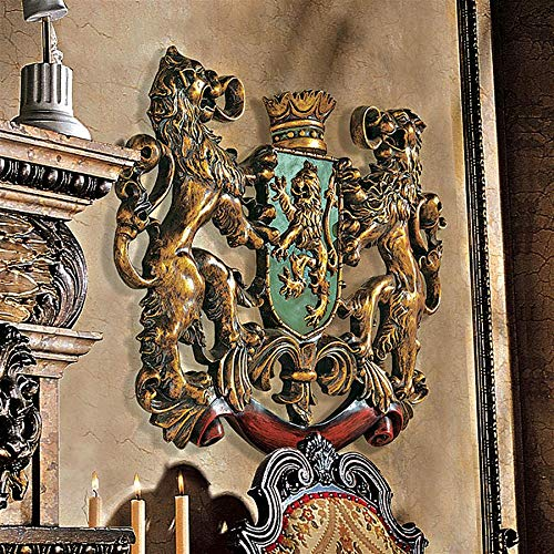 Pretty Design Toscano Heraldic Royal Lions Coat of Arms