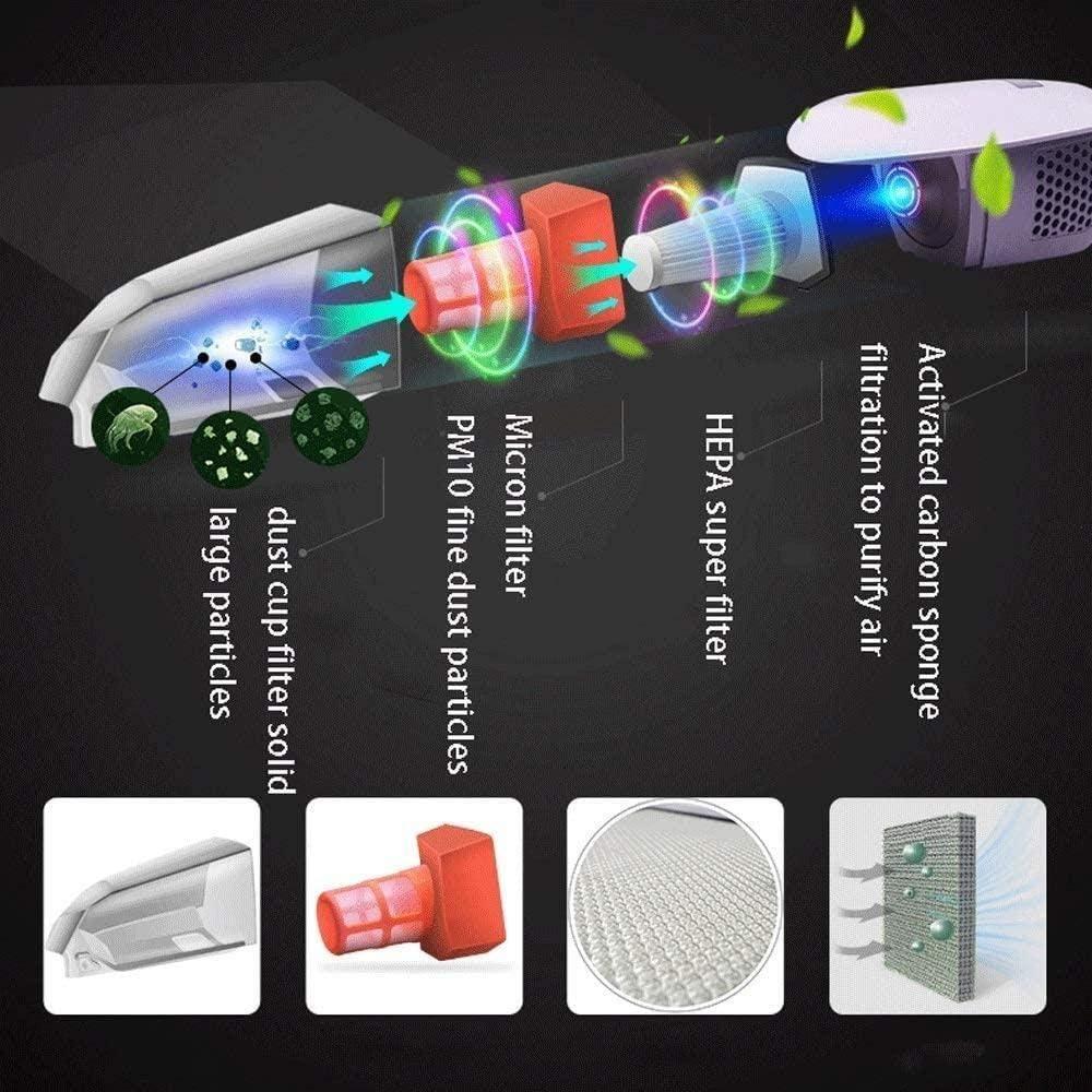 Compresor de aire portátil Colector de polvo de la casa portátil, Aspirador de mano inalámbrico, una fuerte succión del coche del aspirador portátil de mano inalámbrico Aspiradora en Seco Seco Sweeper: Amazon.es:
