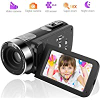 Camcorder Video Camera 1080P Digital Camera 18X Zoom Night Vision Camcorder Camera with the wireless remote control